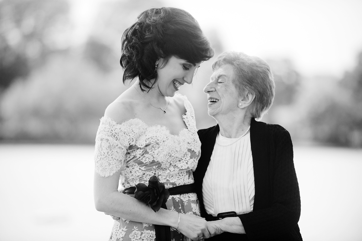 portrait of a bride with her grandmother