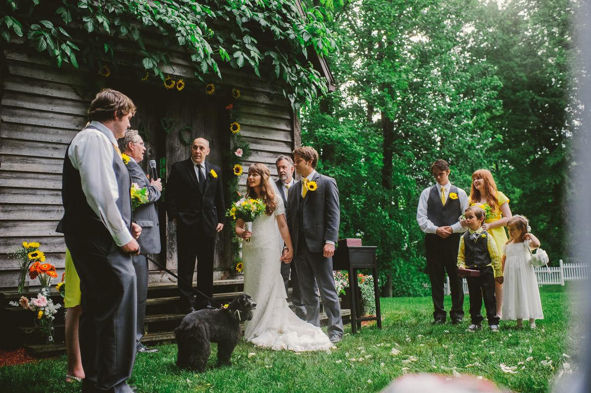 rustic diy outdoor wedding ceremony