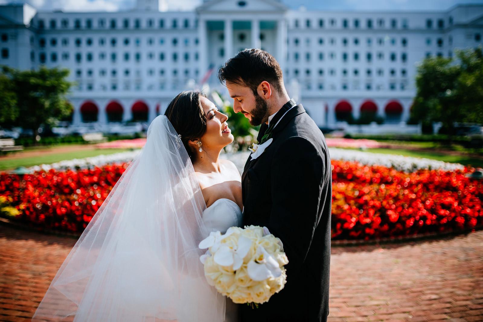 bride groom photos greenbrier resort