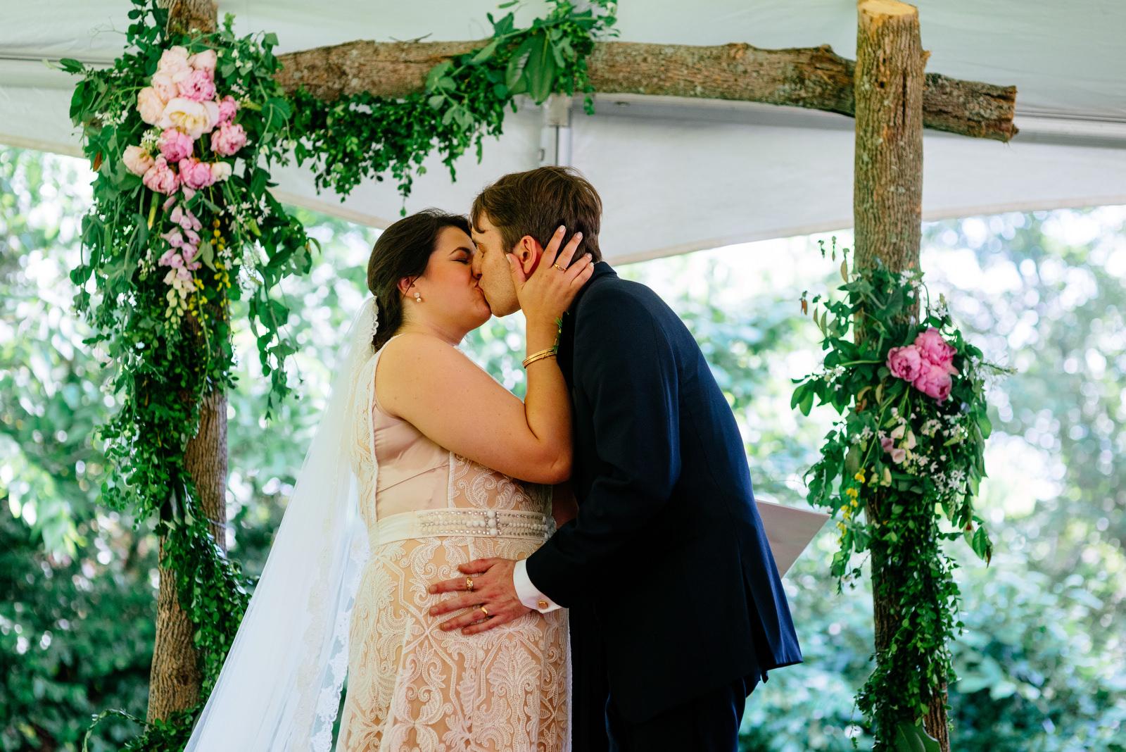 first kiss holly hill inn wedding lexington ky