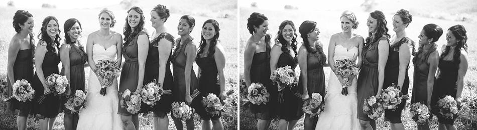 laughing bridesmaids portrait