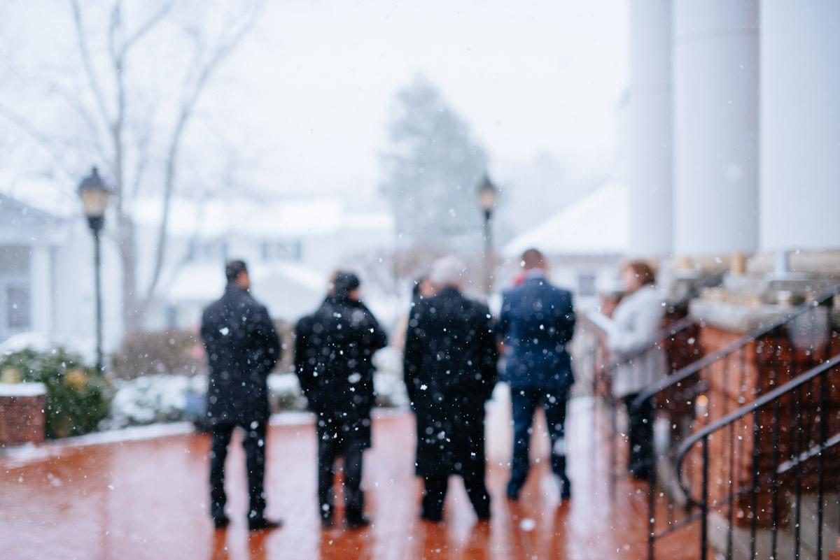 lewisburg west virginia snowy elopement