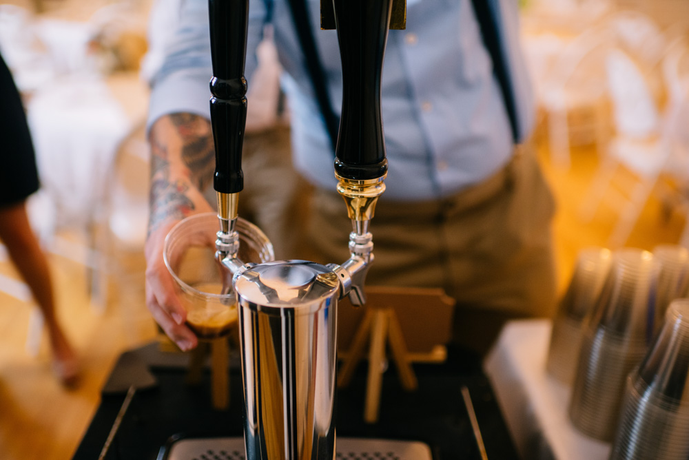 craft beer homebrew at west virginia wedding