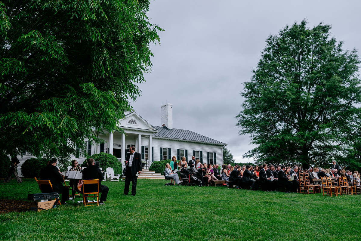 pharsalia virginia wedding outdoor ceremony