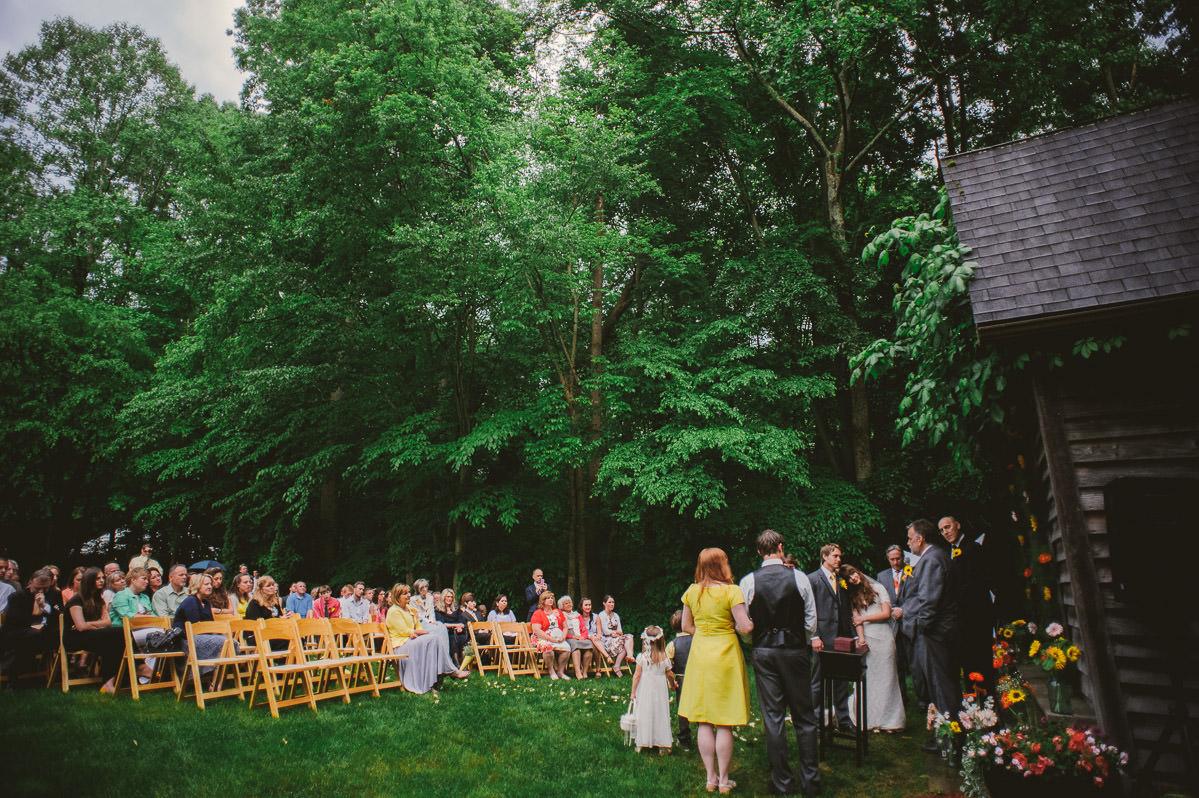 small backyard wv wedding