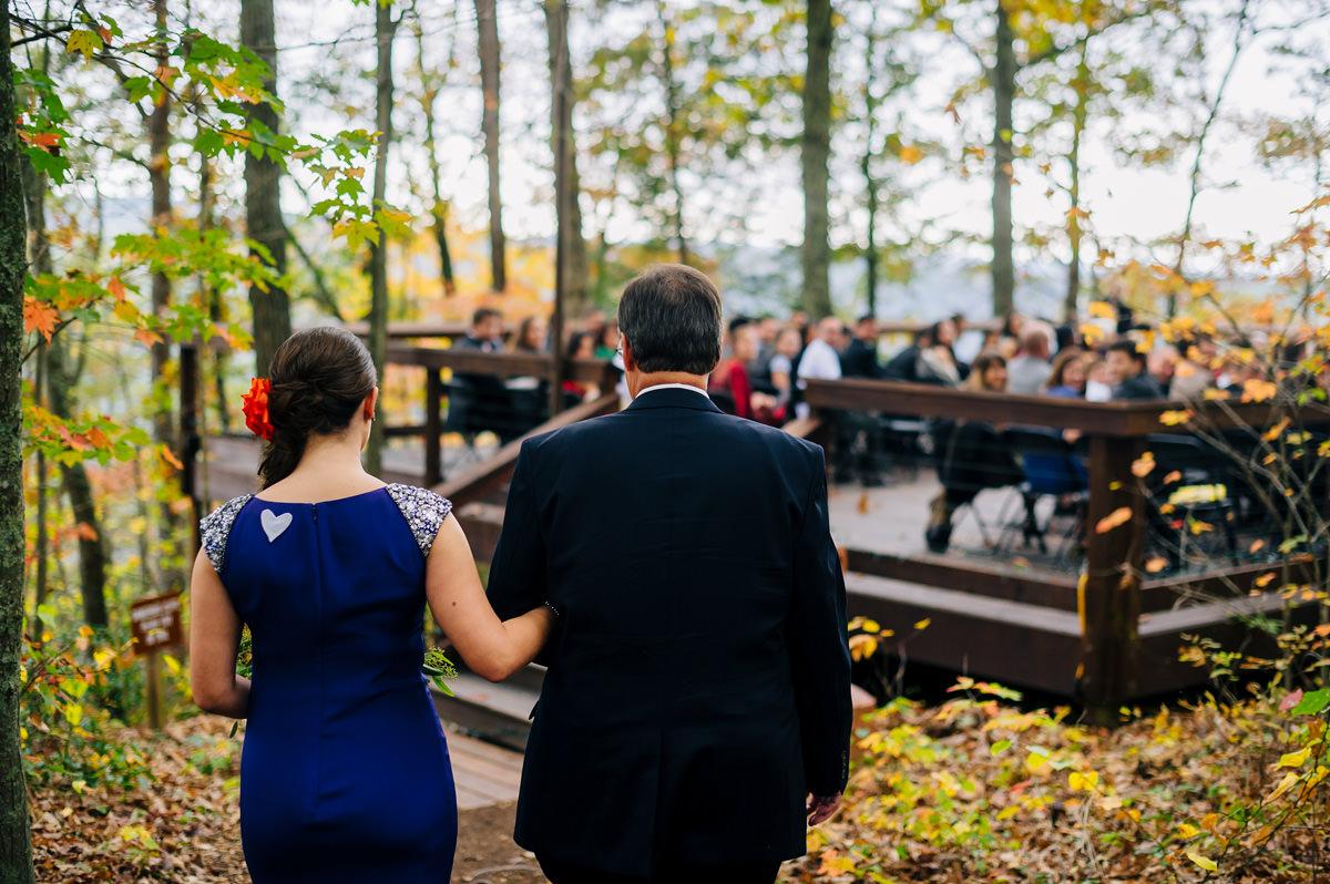 smokeys on the gorge wedding ceremony fayetteville
