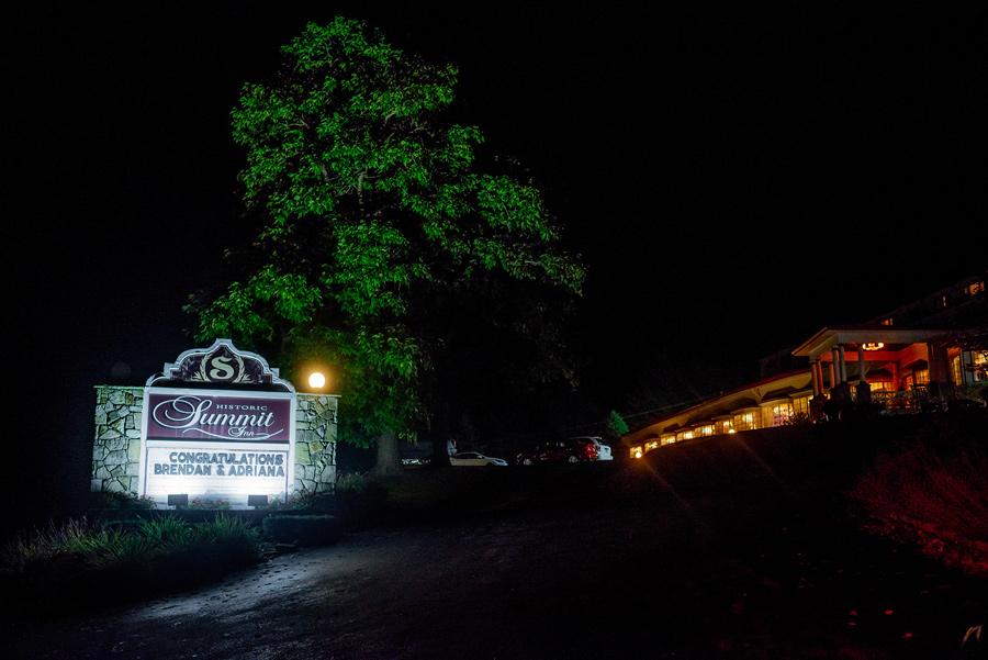 summit inn farmington pennsylvania wedding reception