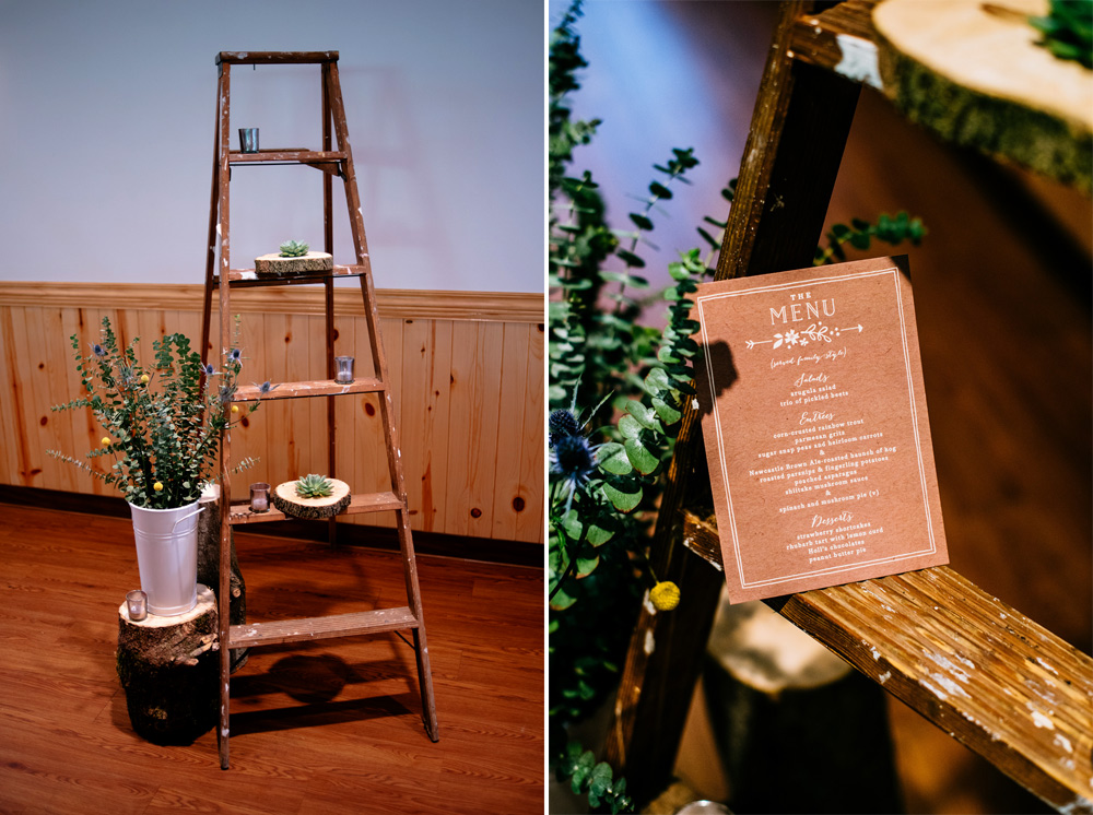 wedding decor ladders