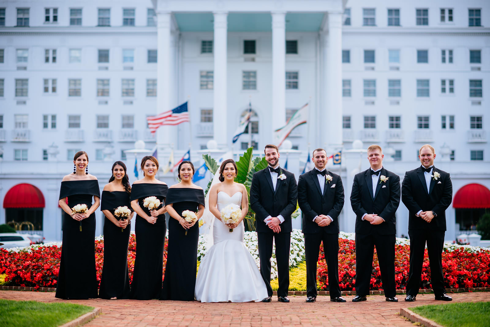 wedding party photos greenbrier resort