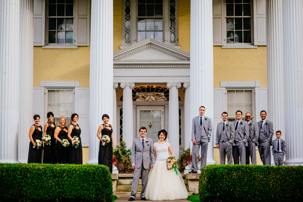 wedding party portrait at oglebay by charleston wv photographers the oberports