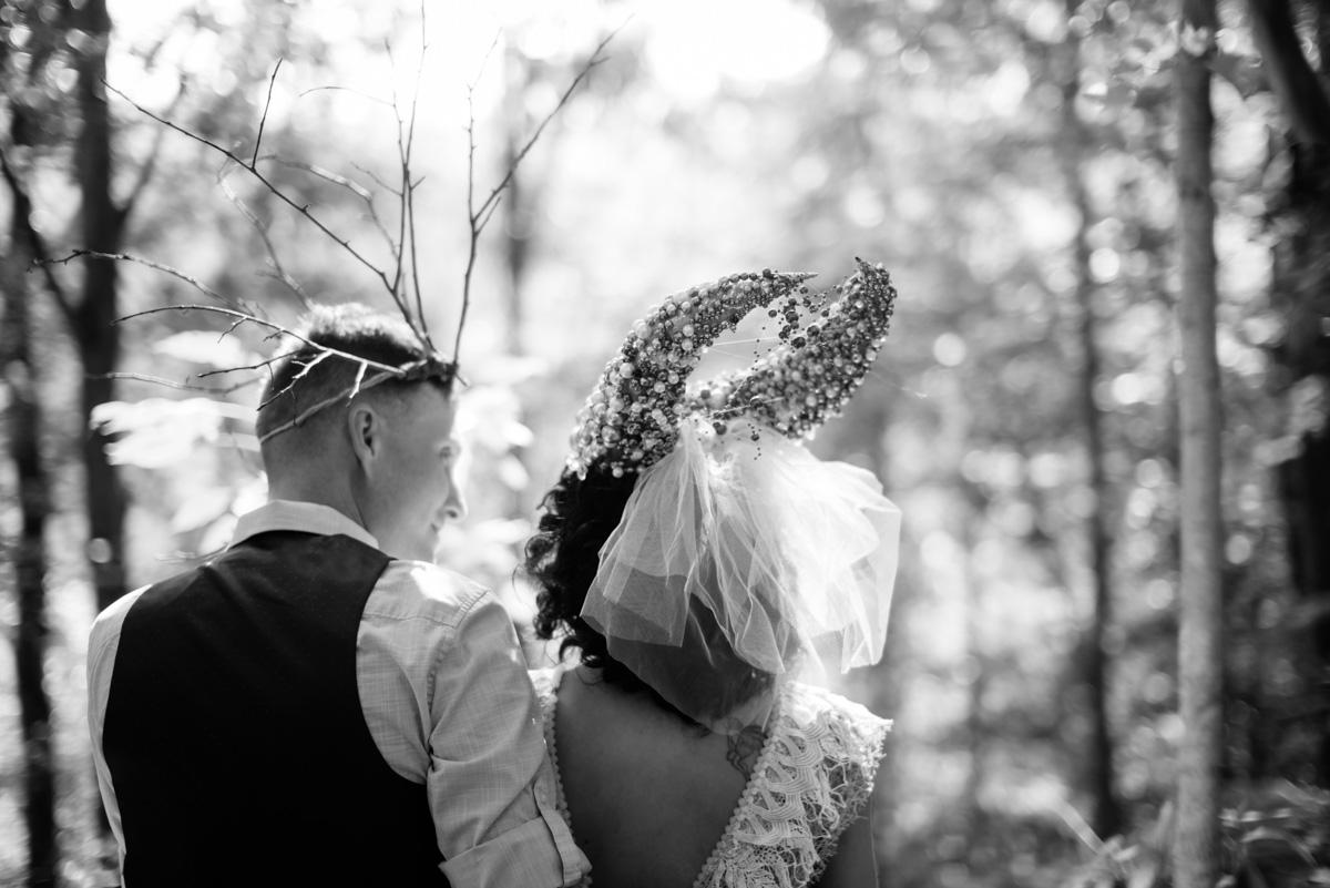 woodland punk rock backyard wv wedding