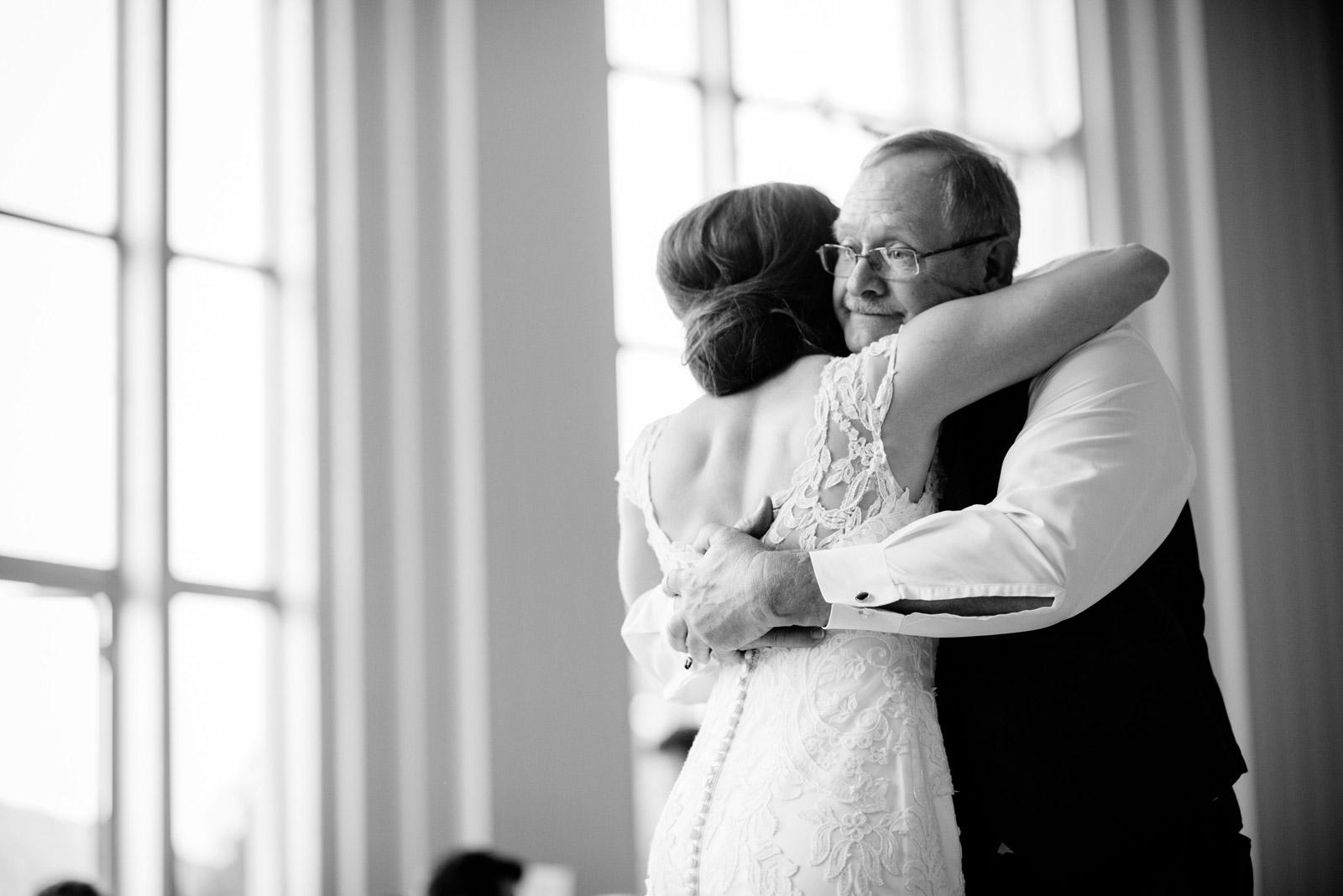 UC rotunda wedding reception father daughter dance