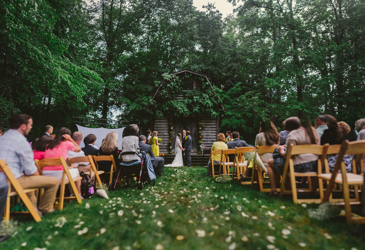 brenizer method bokeh panorama wedding ceremony