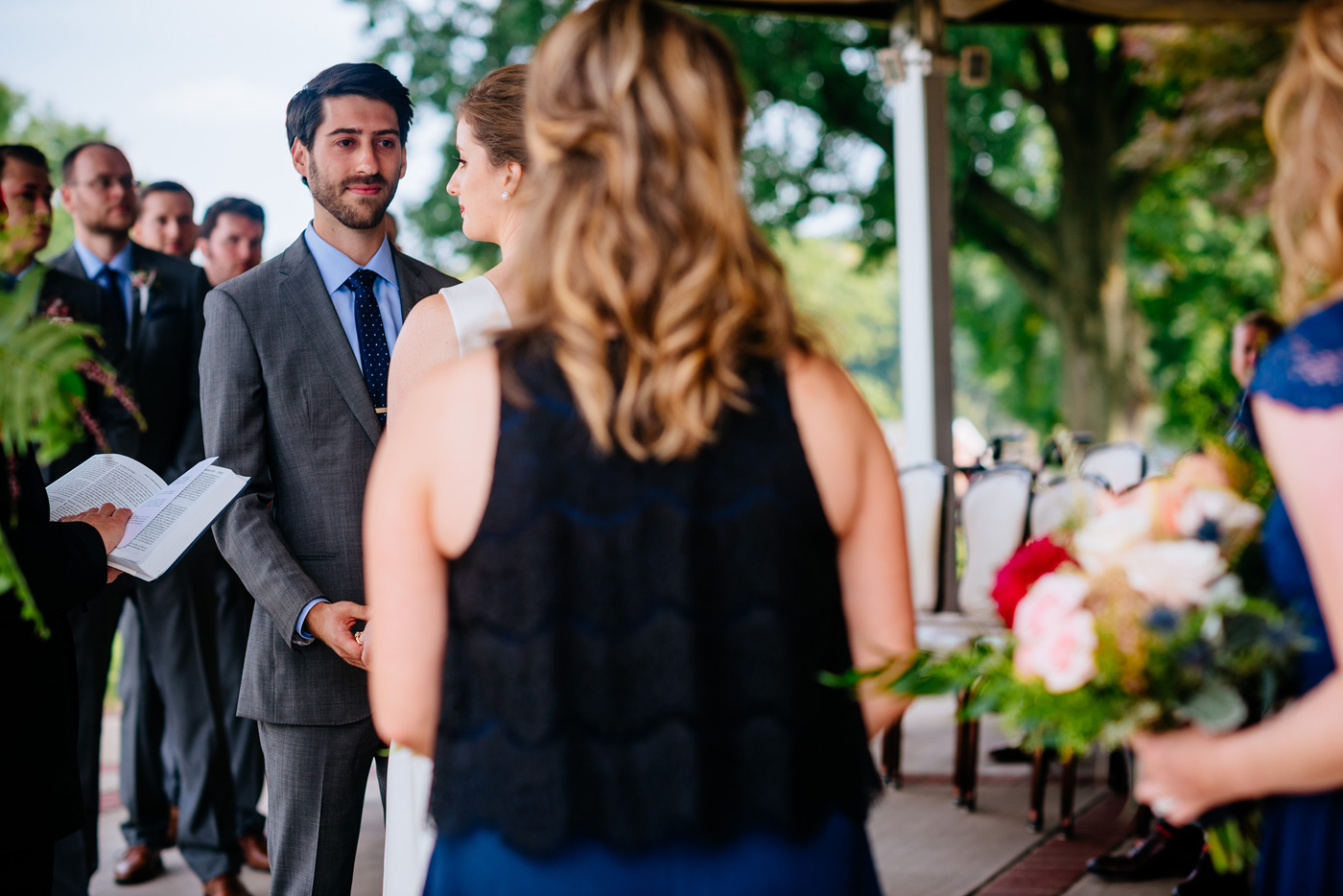 groom during wedding ceremony pittsburgh pa wedding