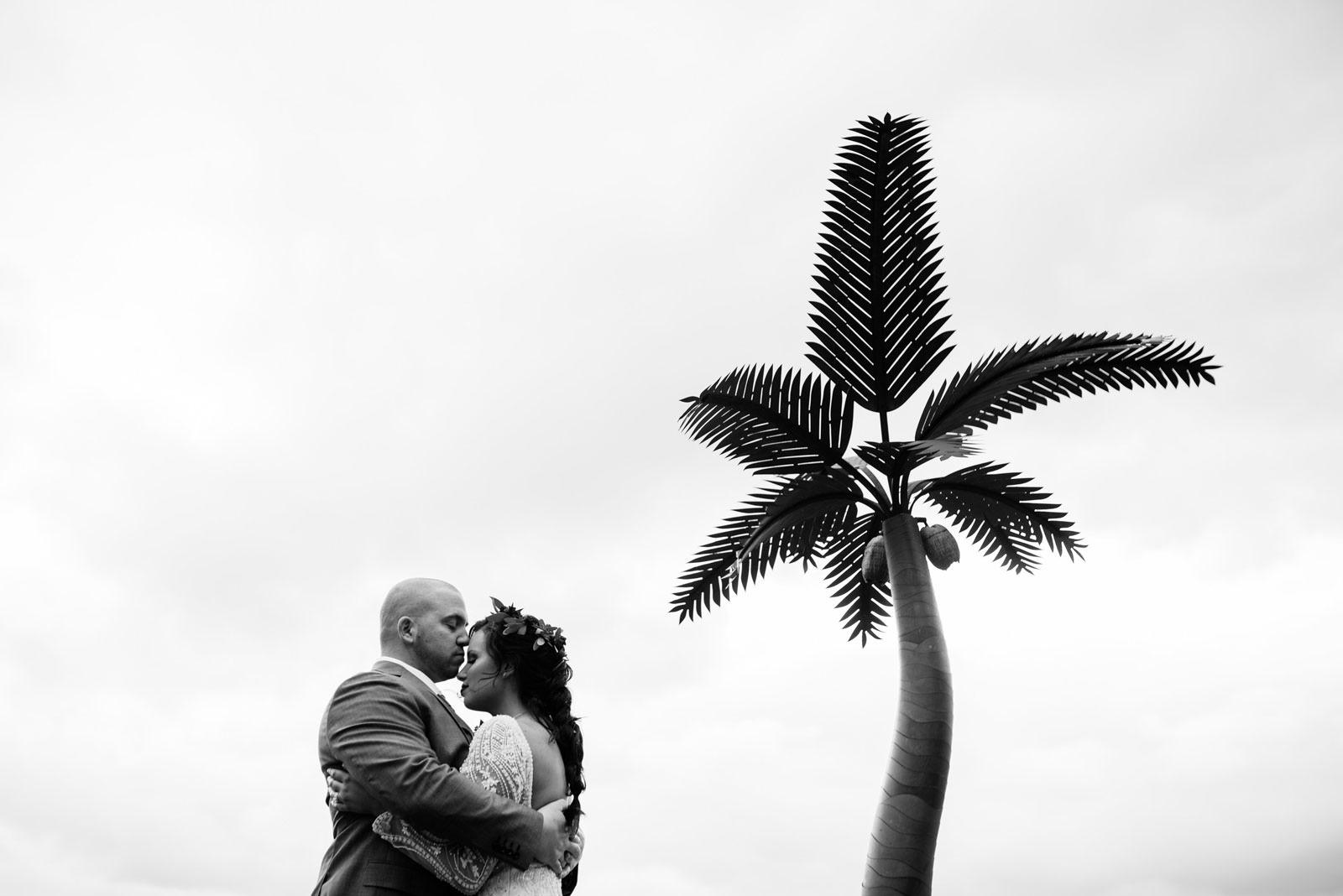 unique cinematic black and white bride groom portrait morgantown wv wedding