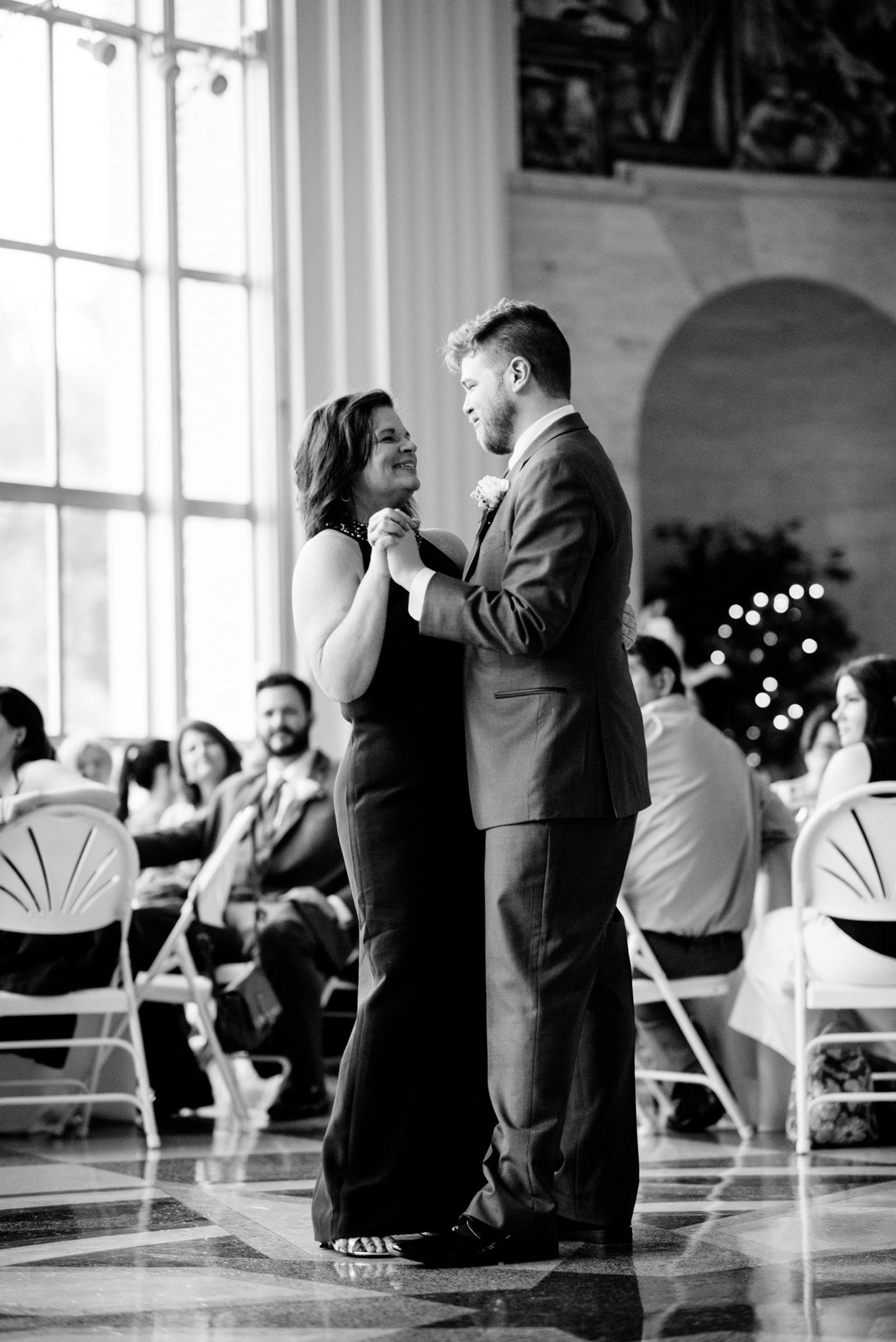 UC rotunda wedding reception mother son dance