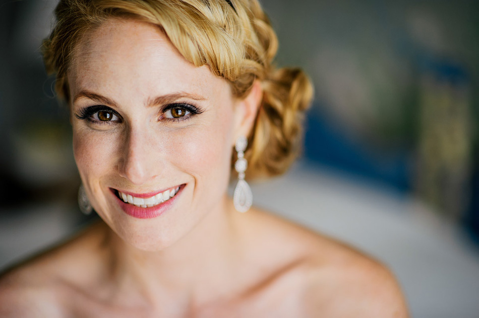 happy smiling bridal portrait