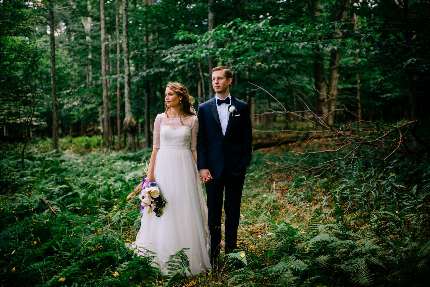 west virginia wv bride and groom in the woods