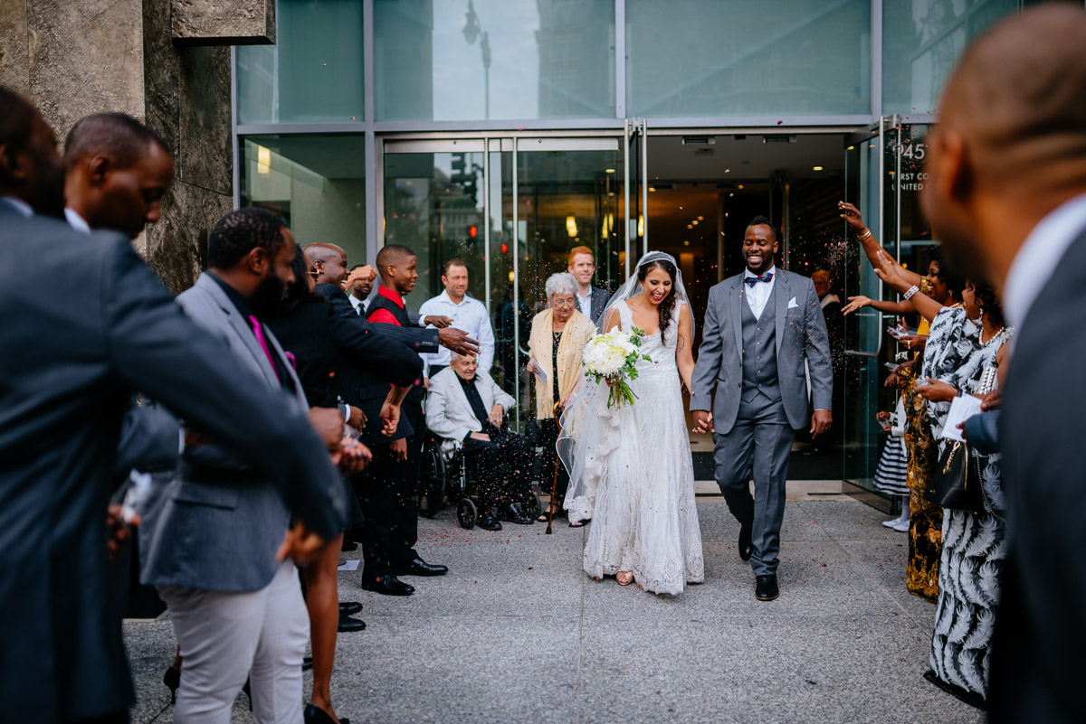 lavender flower toss after wedding