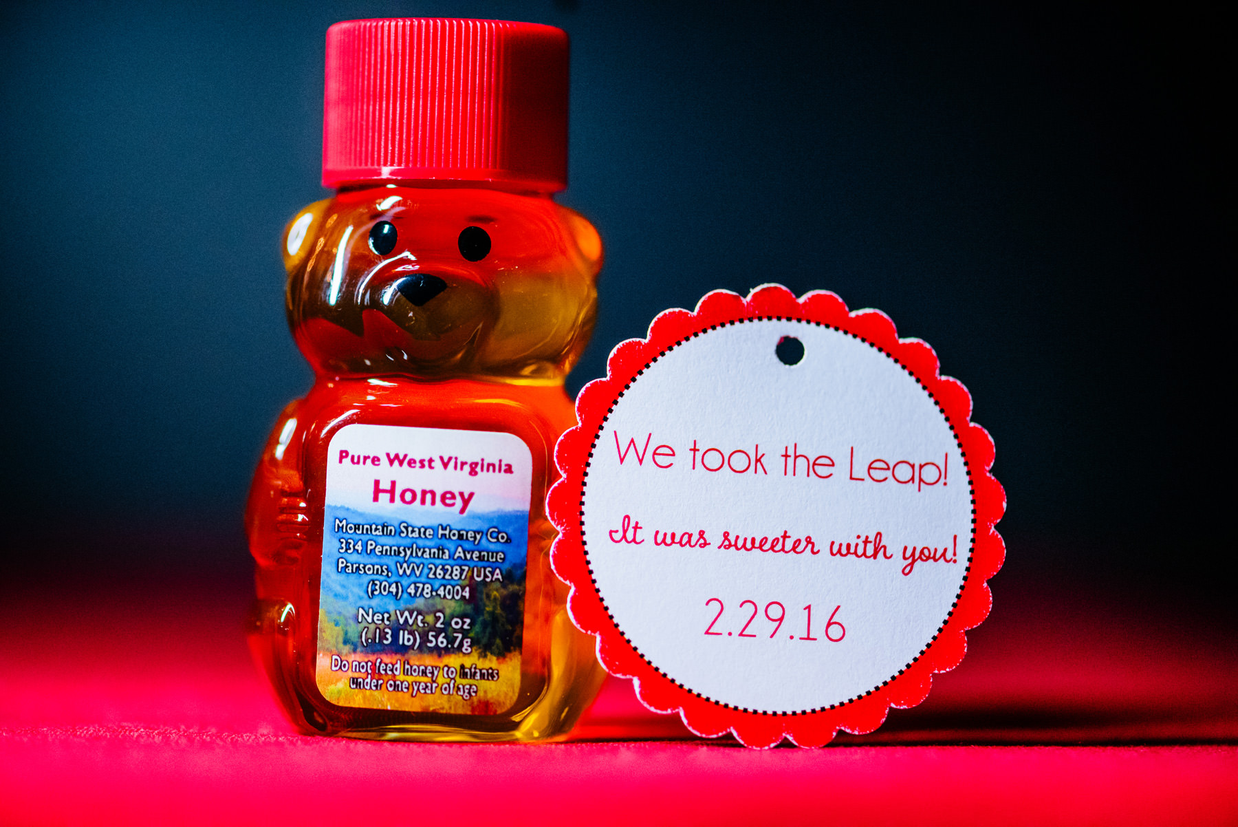 local honey wedding favor west virginia