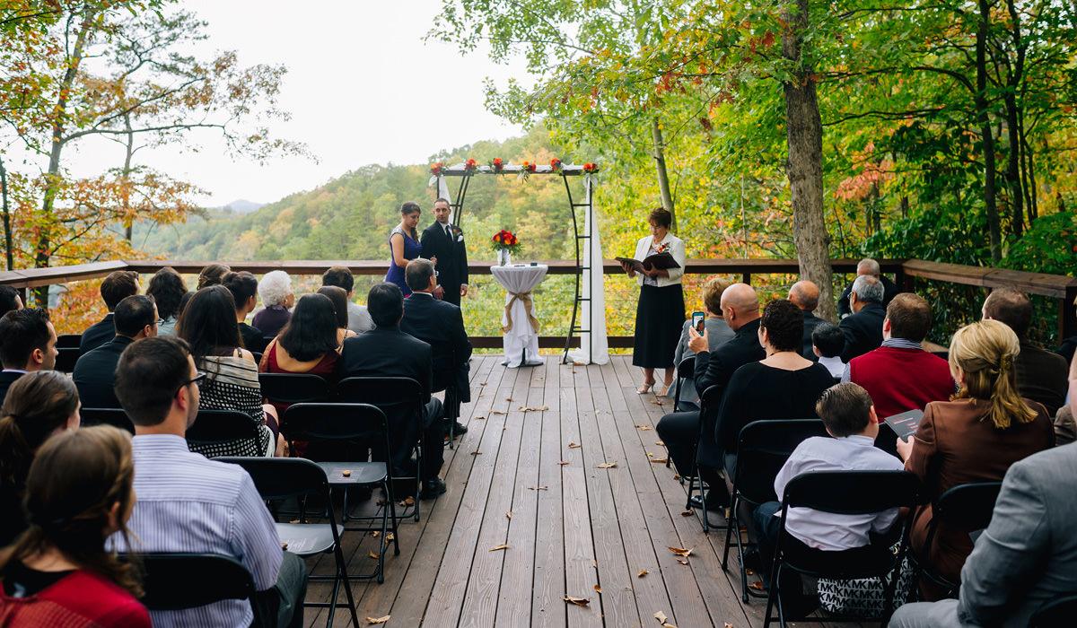 smokeys on the gorge wedding ceremony site