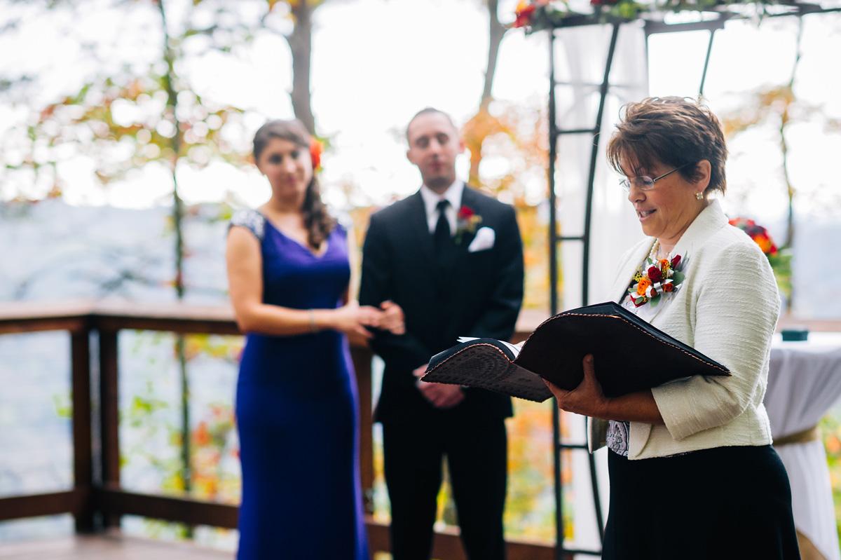 autumn wedding at smokeys on the gorge