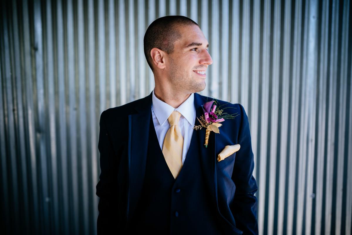 groom portrait jq dickinson saltworks wedding wv