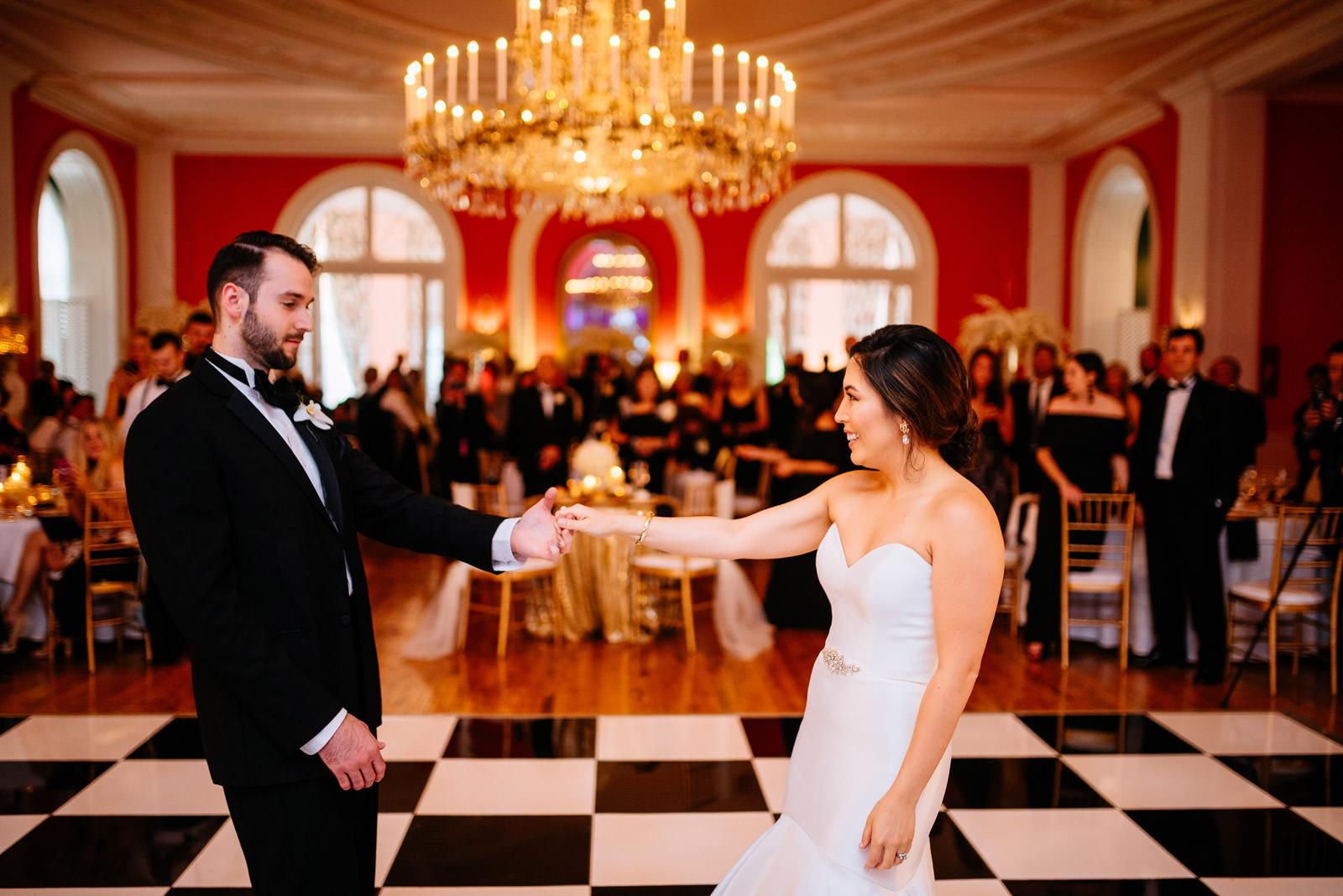 037first dance greenbrier resort cameo ballroom wedding reception