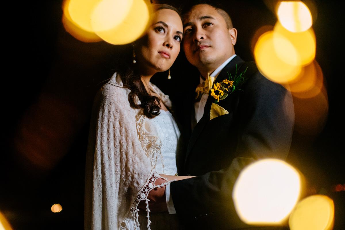 charleston wv wedding nighttime bride and groom portraits