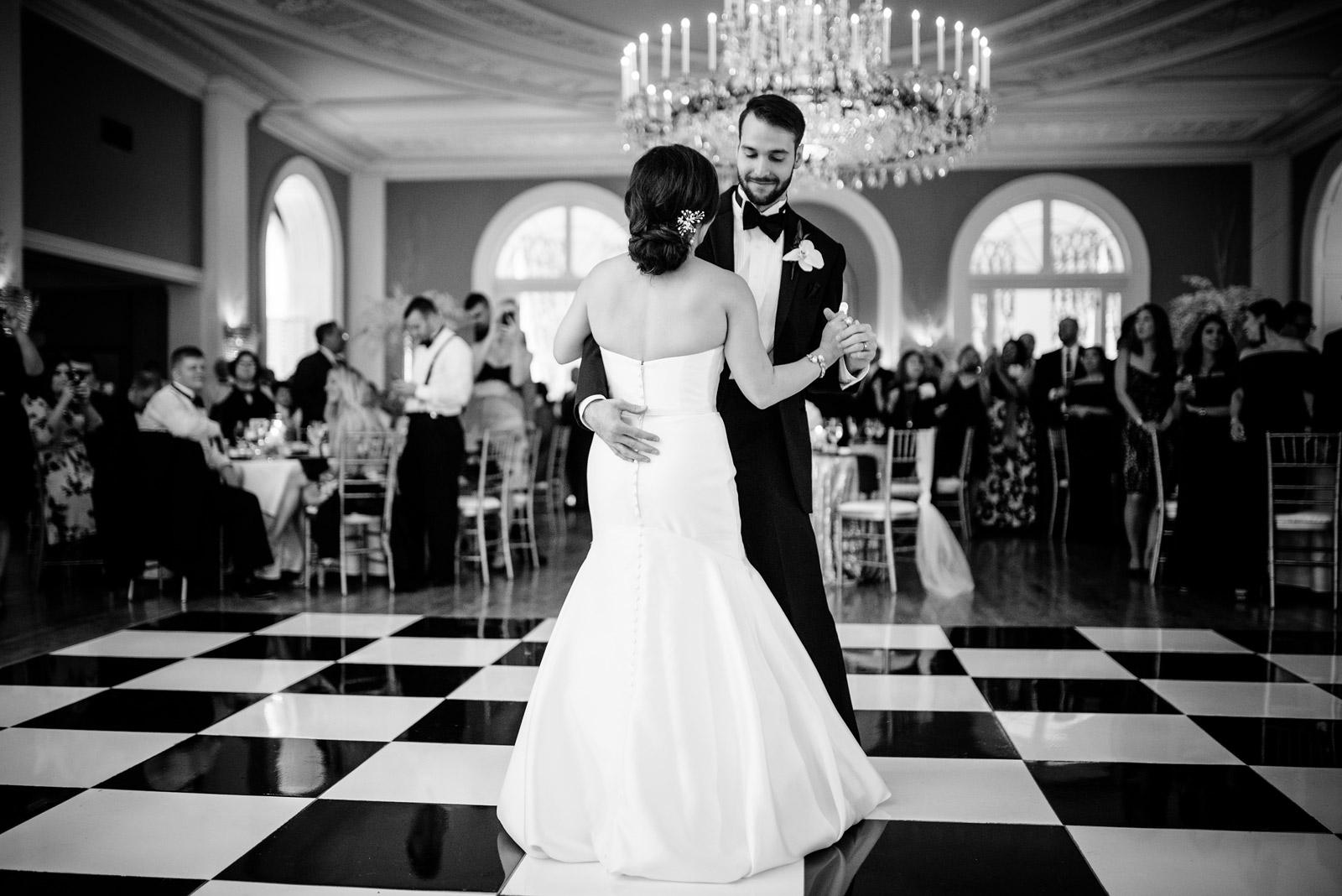 first dance greenbrier resort cameo ballroom wedding reception