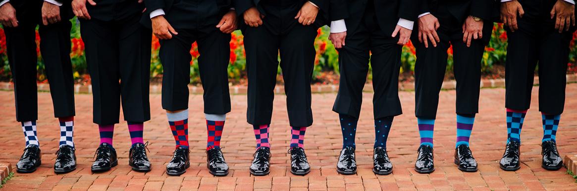 funky groomsmen socks
