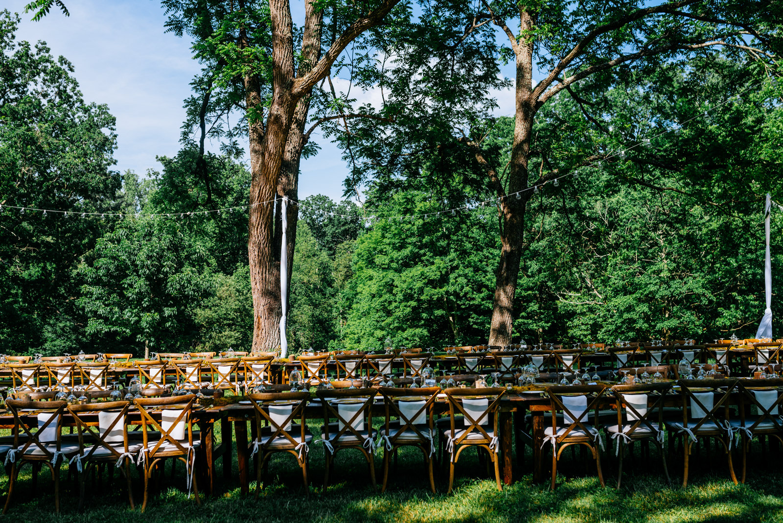 outdoor wedding reception gaines estate fayetteville wv wedding
