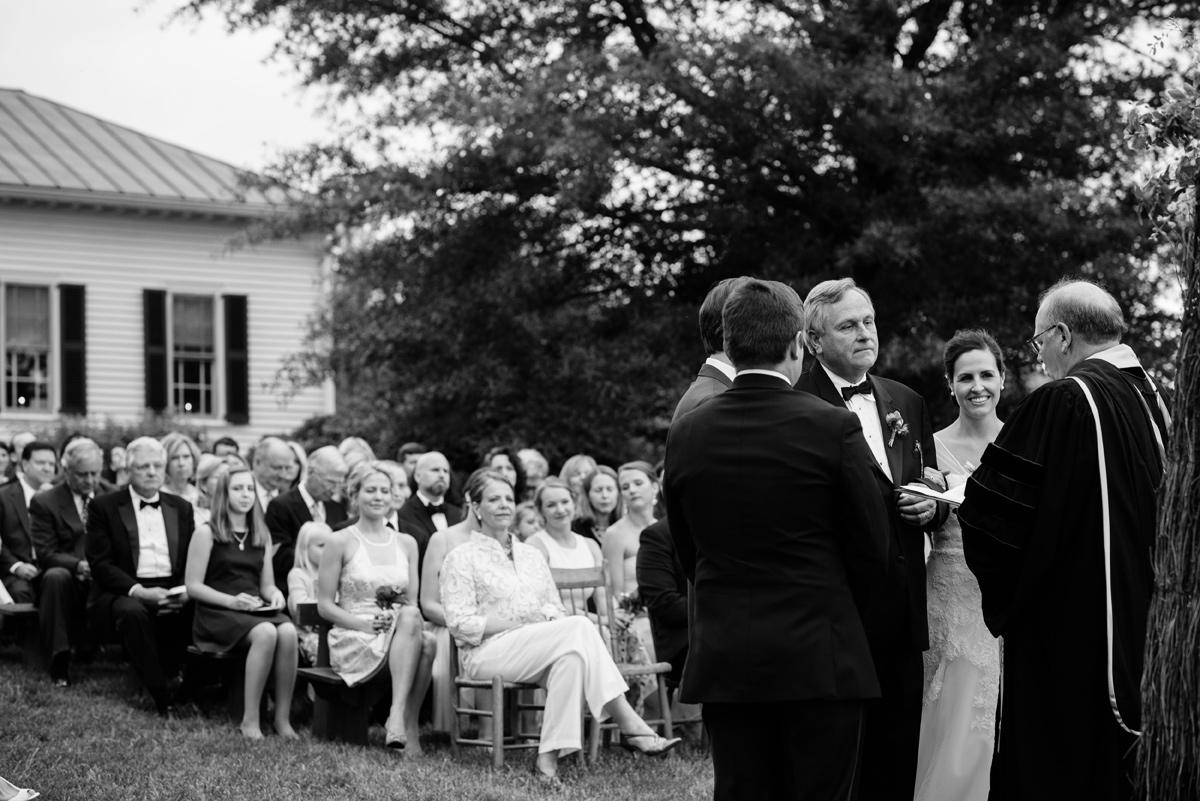pharsalia virginia wedding dad giving daughter away