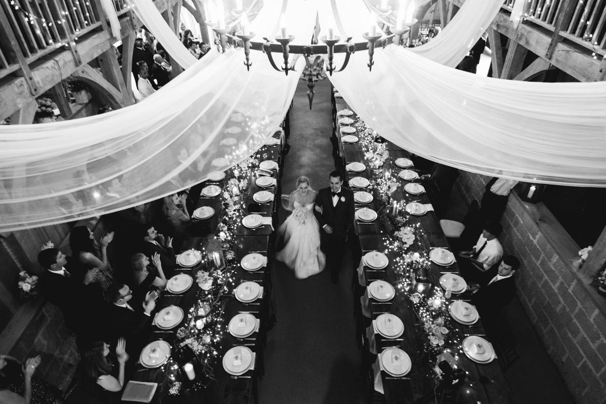 wedding ceremony in barn