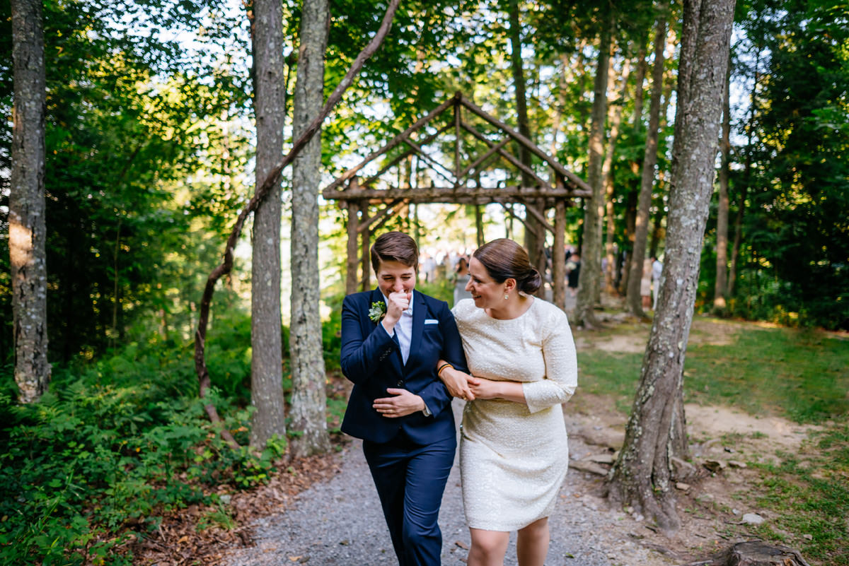 emotional bride ceremony recessional