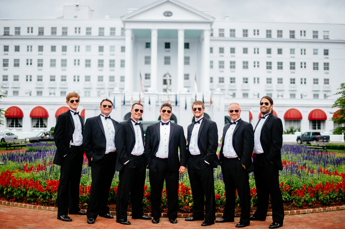 groomsmen at the greenbrier