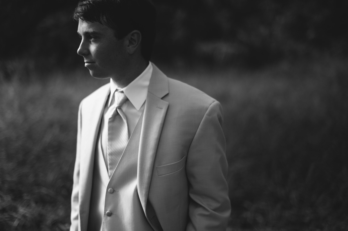 moody groom portrait
