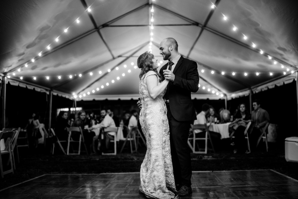 bride and groom first dance benedict haid farm west virginia