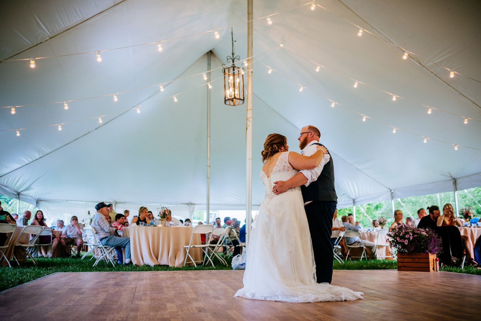 bride groom first dance west virginia cheat river wedding reception