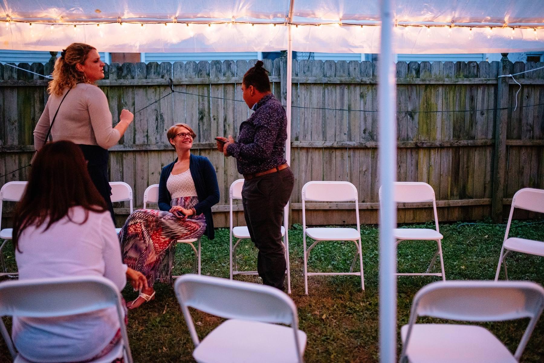 charleston wv backyard wedding reception