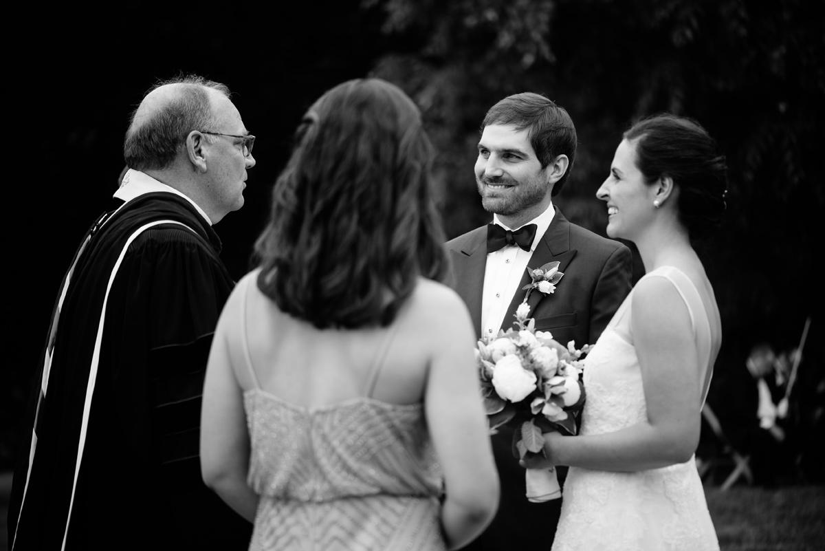 pharsalia virginia wedding ceremony outdoors