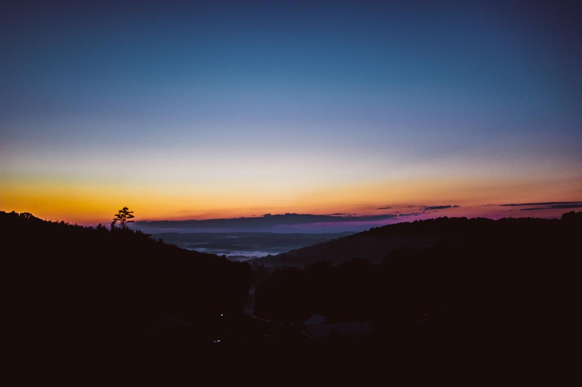 sunset at fallingwater