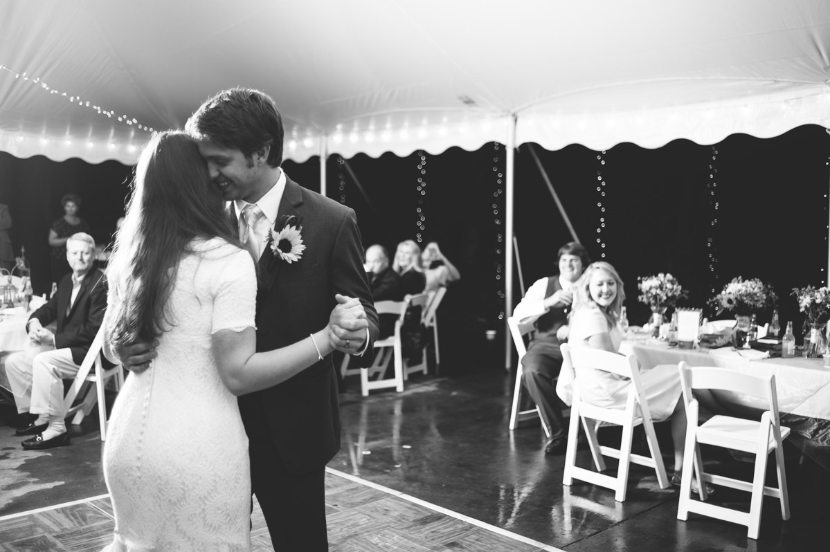 black and white first dance bride groom