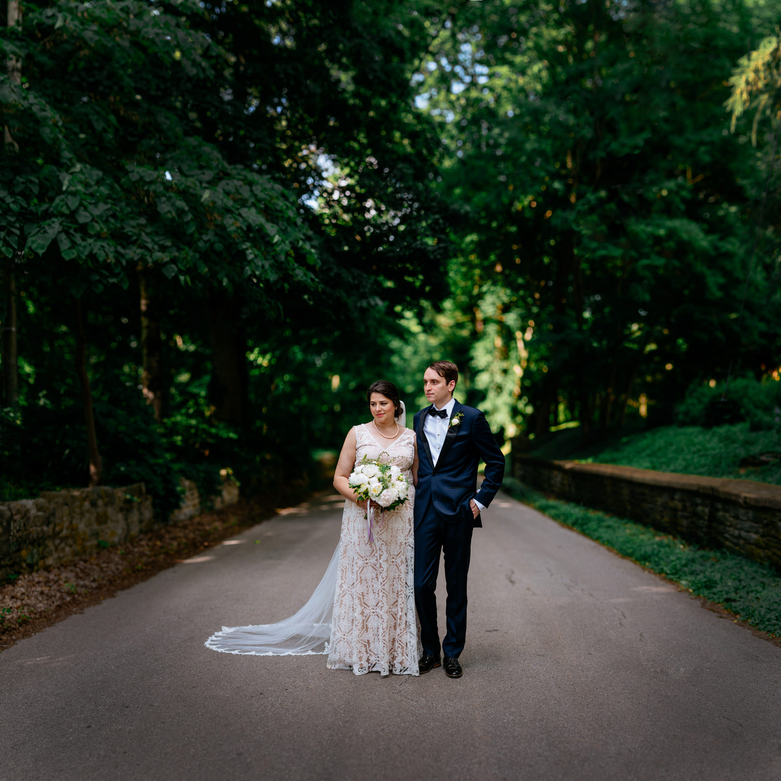 brenizer method bokeh panorama wedding portrait