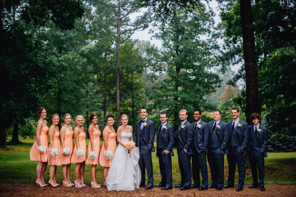 wedding party portrait by the oberports