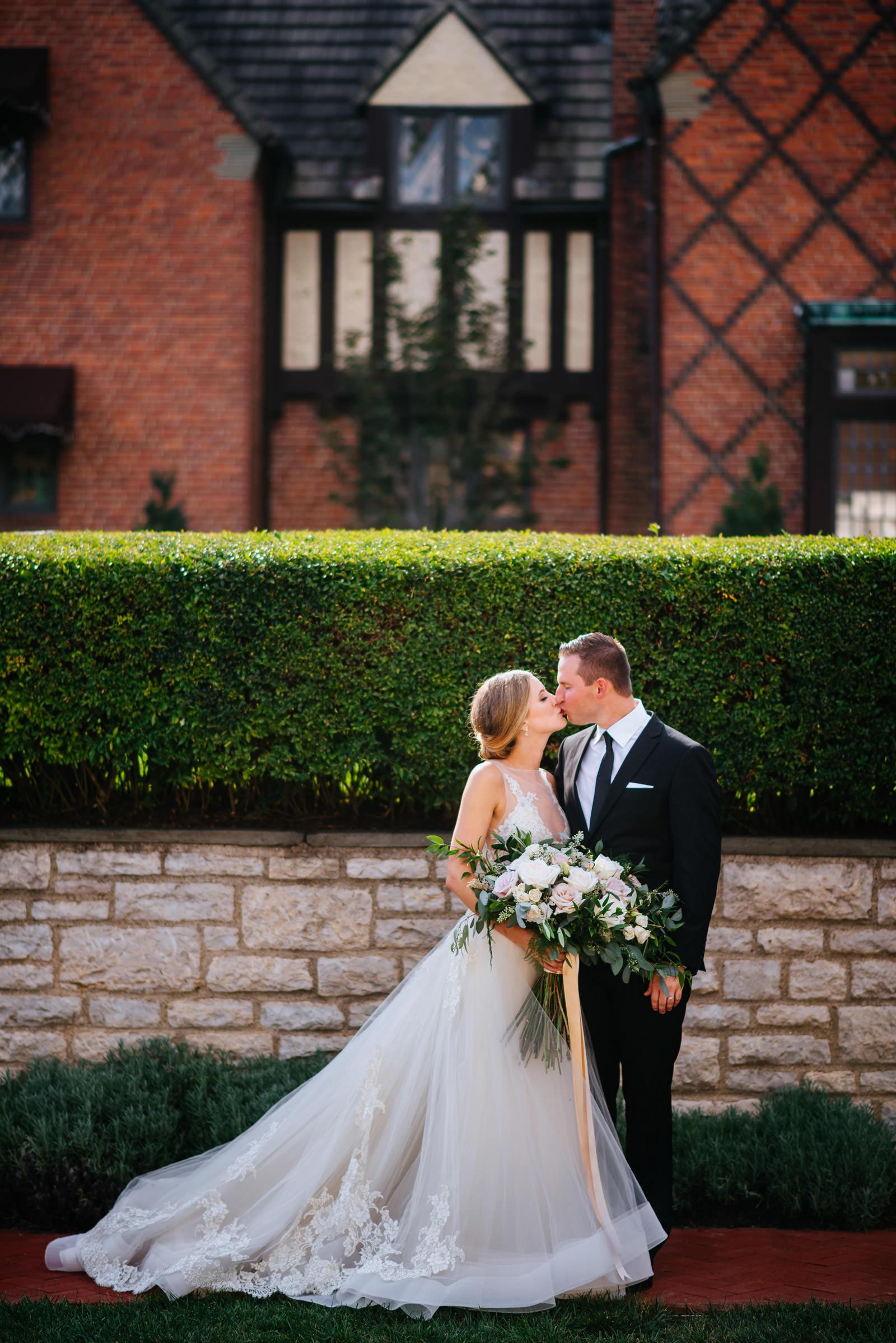 bride groom portrait zenner house wedding