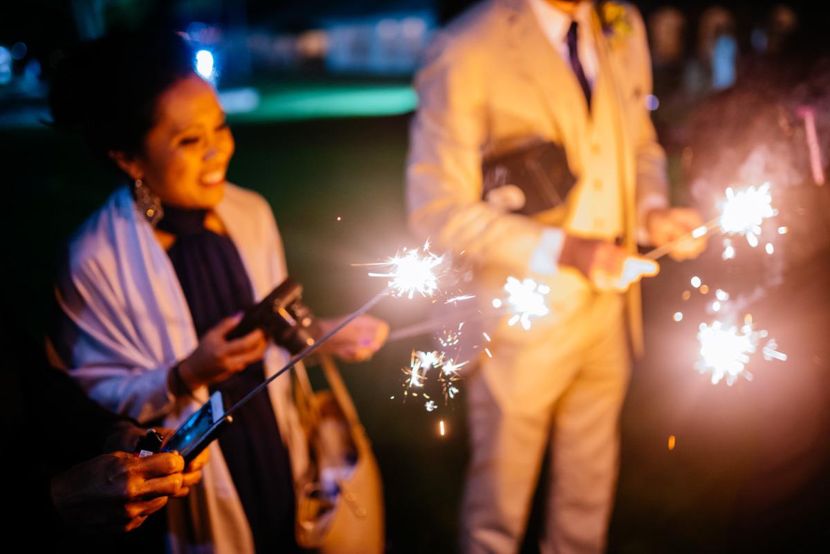charleston wv wedding university of charleston sparklers