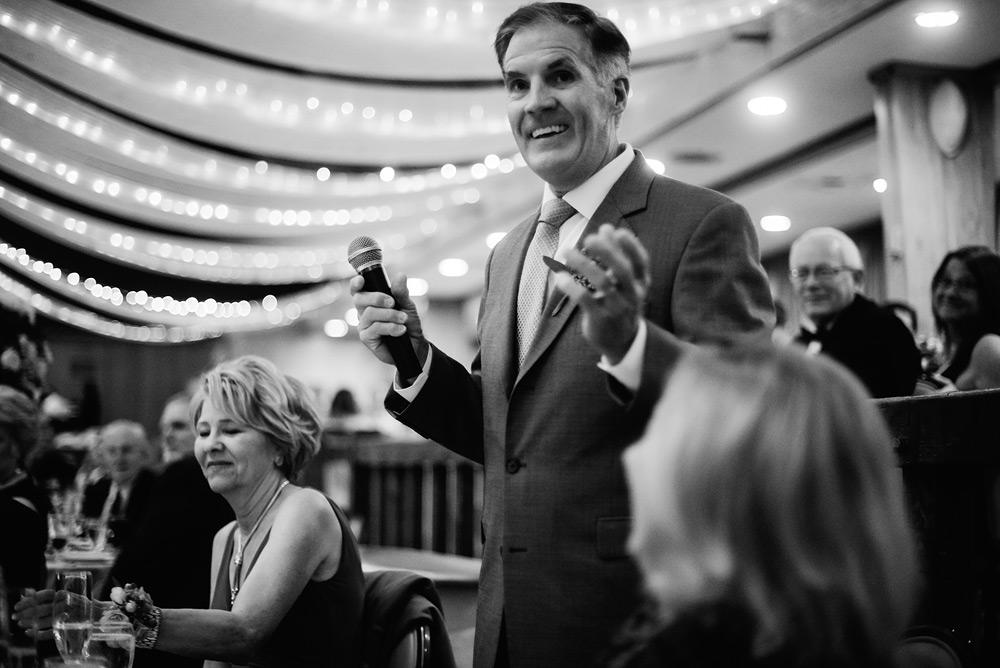 dad speech wedding reception at glessner ballroom oglebay wv