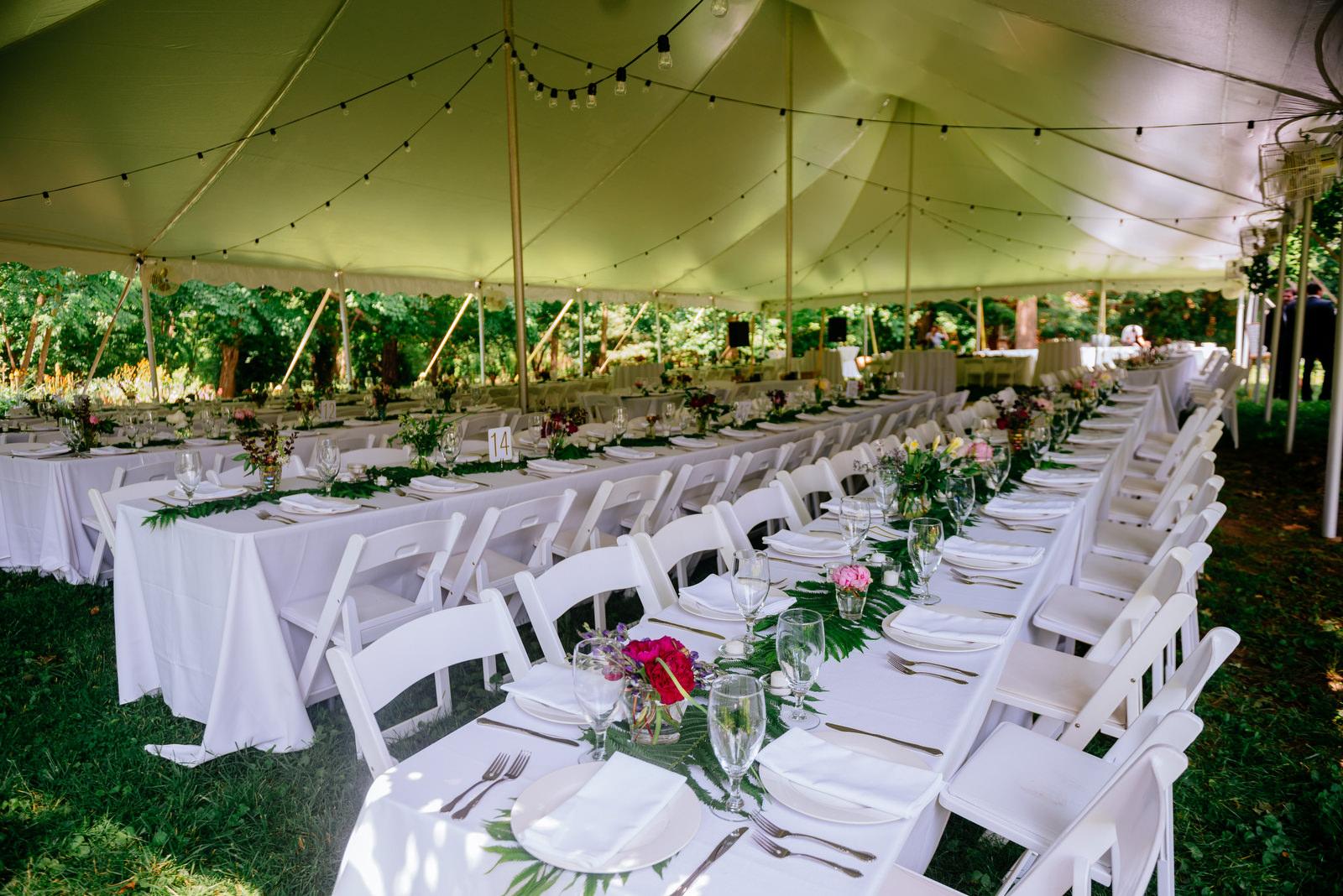 reception family style dinner tables holly hill inn wedding lexington ky
