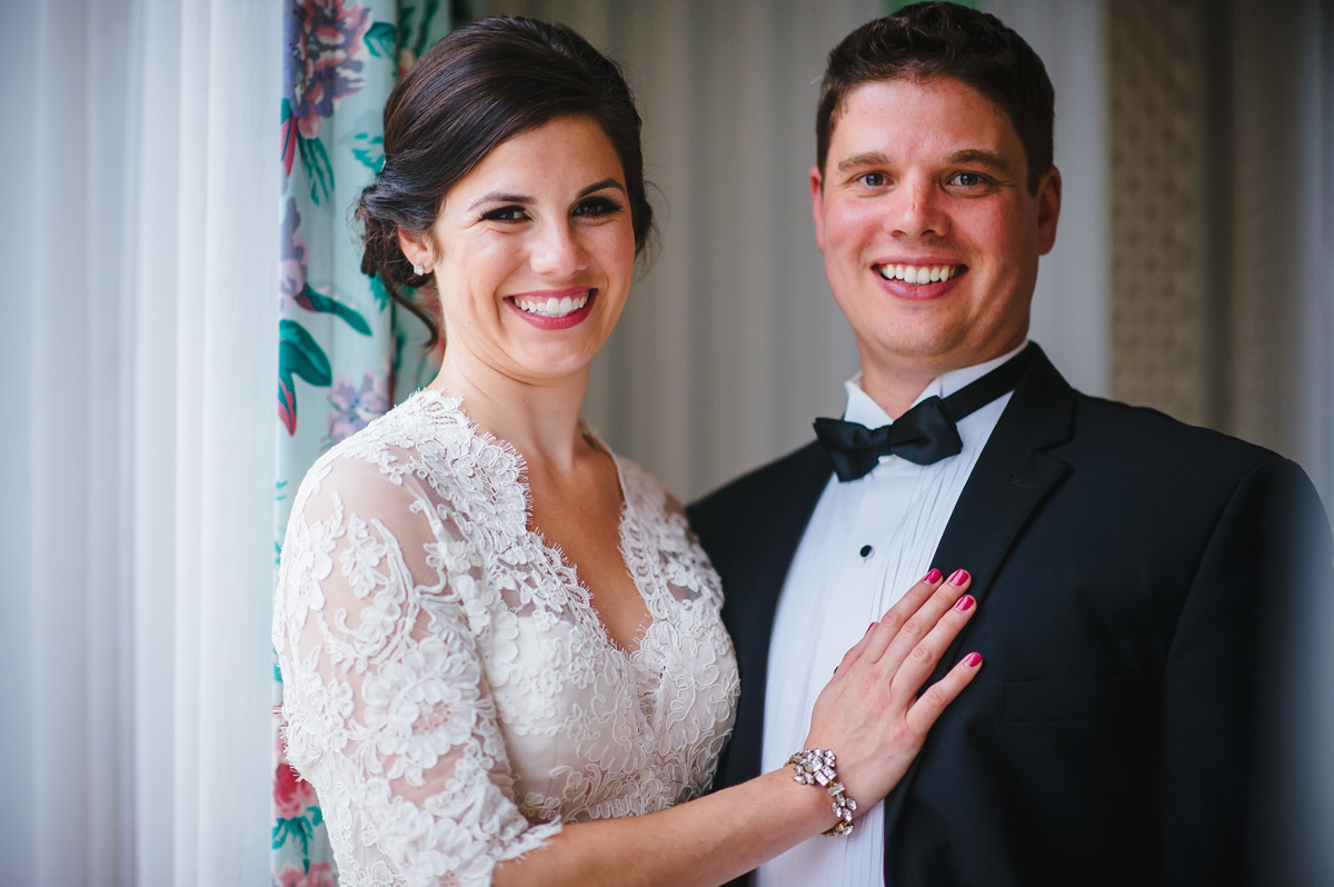 bride and groom at the greenbrier